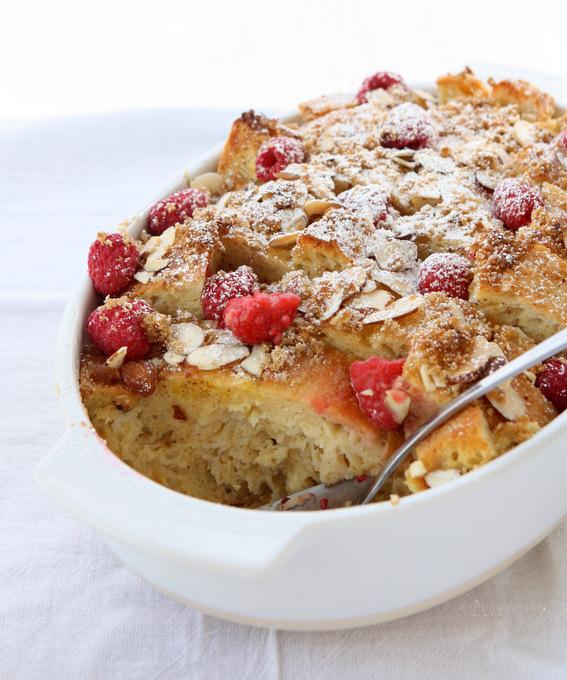 Baked Raspberry Almond French Toast   thekitchenpaper.com