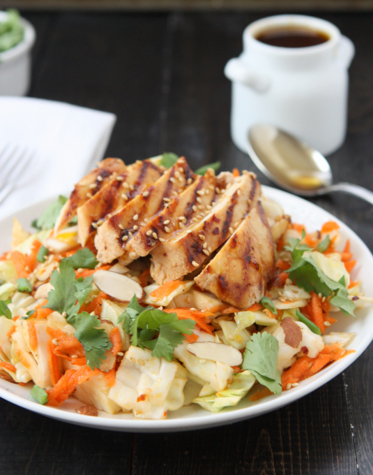 Asian Sesame Chicken Chop Salad | thekitchenpaper.com