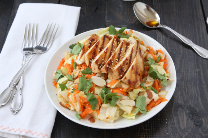 Asian Sesame Chicken Chop Salad