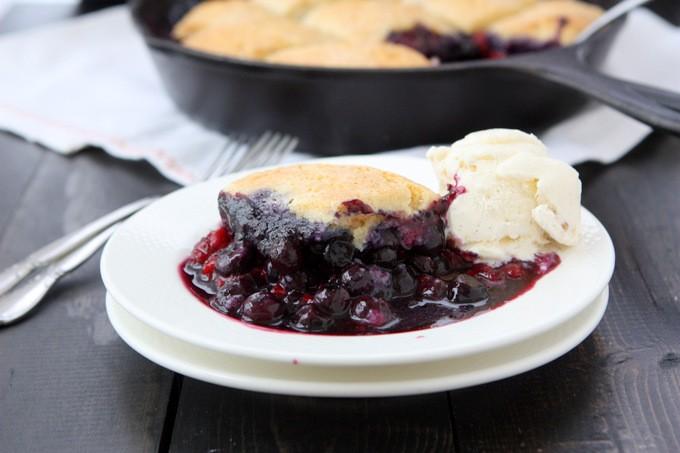 Blueberry Raspberry Cobbler