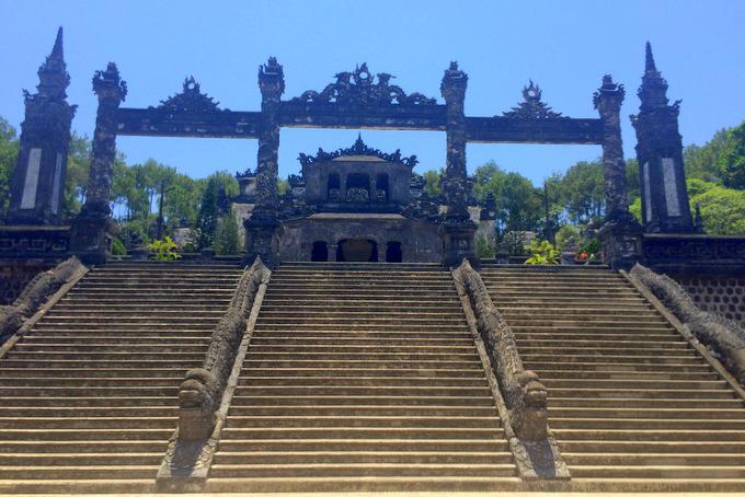 Khai Dinh Tomb in Hue, Vietnam | thekitchenpaper.com