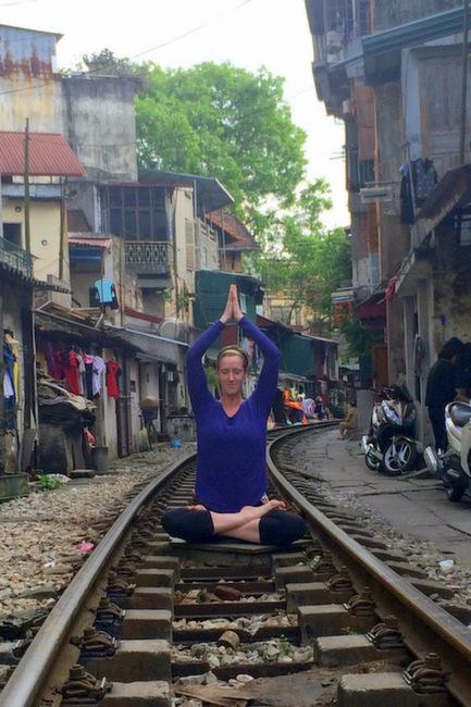 Yoga on the Tracks in Hanoi | thekitchenpaper.com