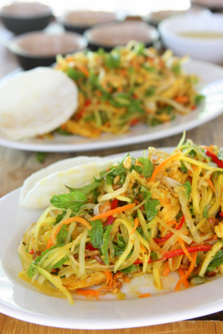 ... mango salad caramelized mango and shallot salad mango and papaya salad