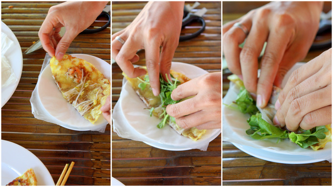 Bánh Xèo: Sizzling Rice Pancake with Pork and Shrimp   thekitchenpaper.com
