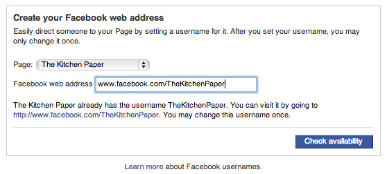 How to Customize your Facebook URL | thekitchenpaper.com