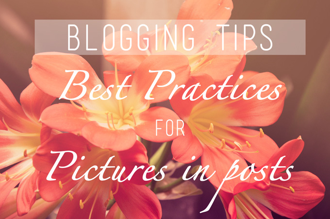 Blogging Tips: Best Practices for Pictures in Posts