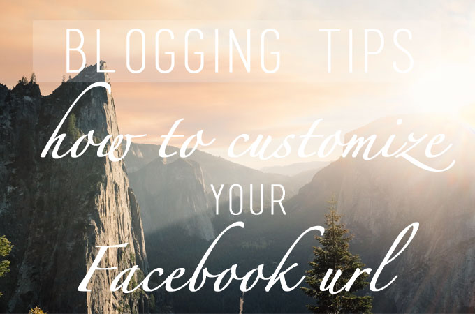 Blogging Tips: How To Customize Your Facebook Page URL