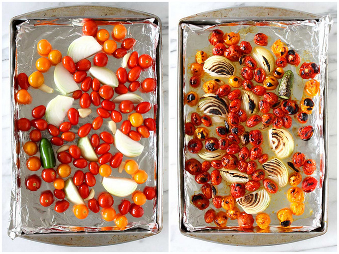 Sweet Roasted Tomato Salsa   thekitchenpaper.com