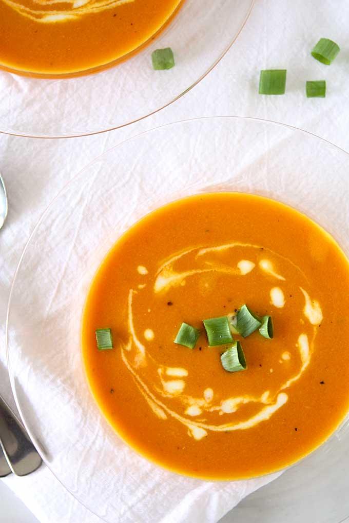 Orange Tomato, Turmeric, Coconut Soup | thekitchenpaper.com