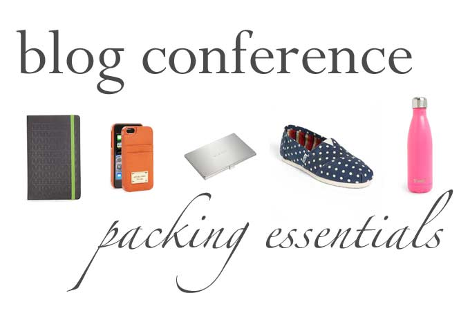 Blog Conference Packing Essentials | thekitchenpaper.com