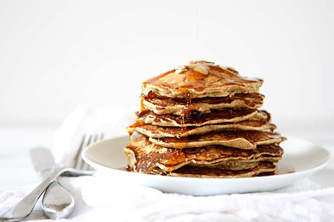 Whole Wheat Spiced Zucchini Pancakes | thekitchenpaper.com