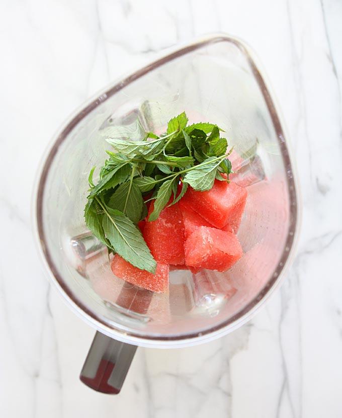 Watermelon Mint Shake | thekitchenpaper.com
