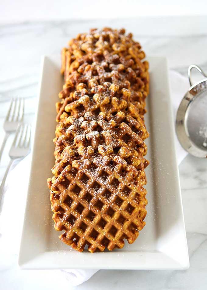 Whole Wheat Pumpkin Spice Waffles | thekitchenpaper.com