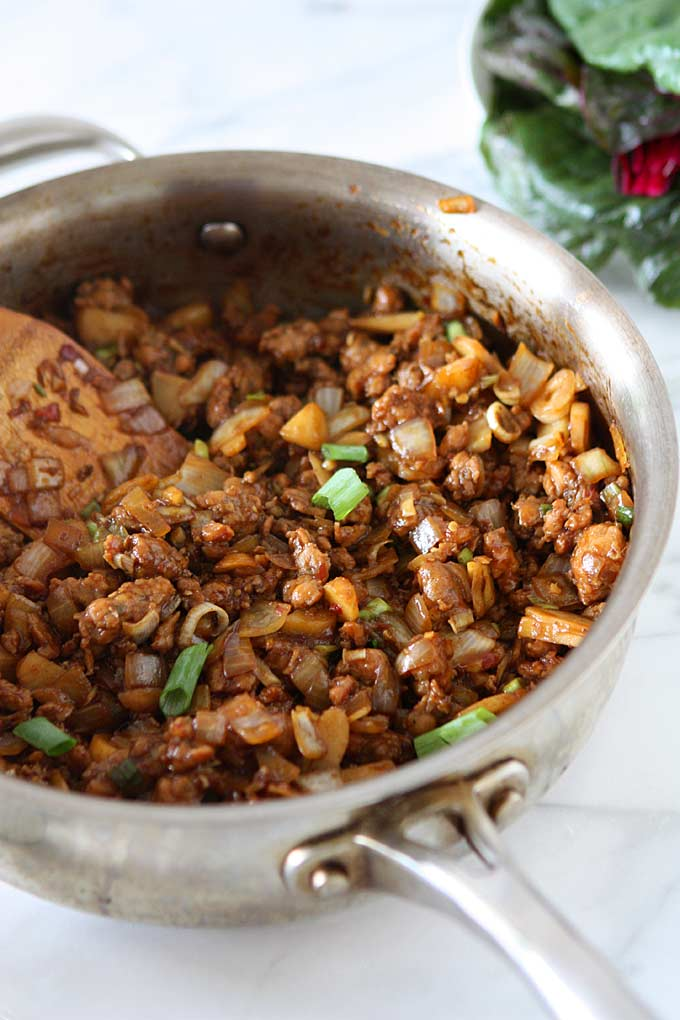 Asian Chicken Chard Wraps | thekitchenpaper.com