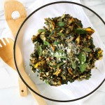 Blackened Summer Squash Salad with Pine Nuts, Basil, and Mint | thekitchenpaper.com