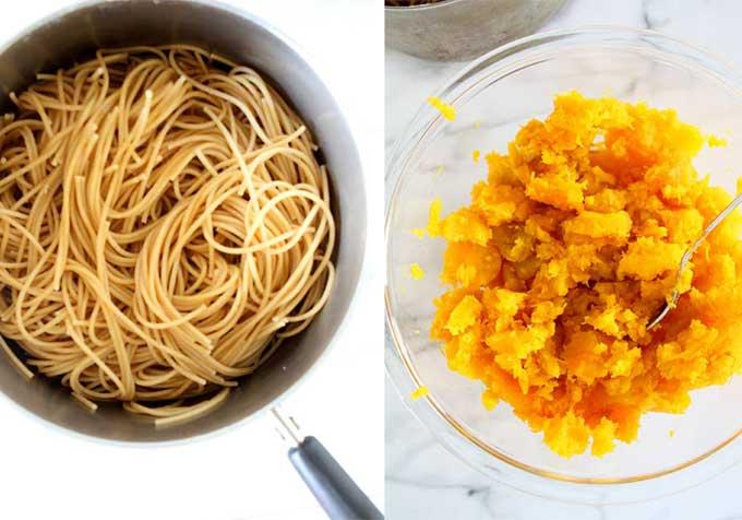 Brown Butter Butternut Squash Spaghetti Bake | thekitchenpaper.com