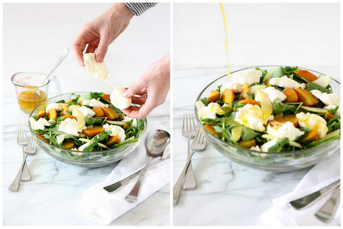 Golden Beet, Apple, Burrata, Arugula Salad | thekitchenpaper.com