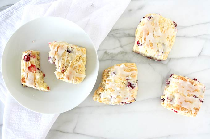 Cranberry Scones with Wild Orange Essential Oil | thekitchenpaper.com