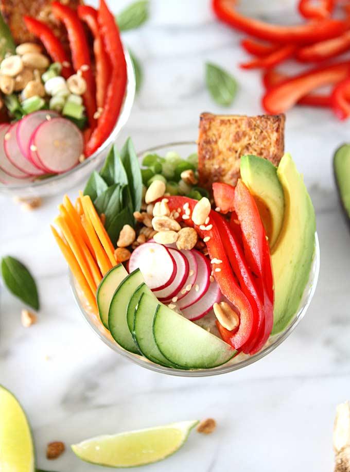 Lemongrass Tofu Vietnamese Farro Salad | thekitchenpaper.com