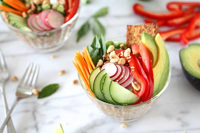 Lemongrass Tofu and Vietnamese Farro Salad | thekitchenpaper.com