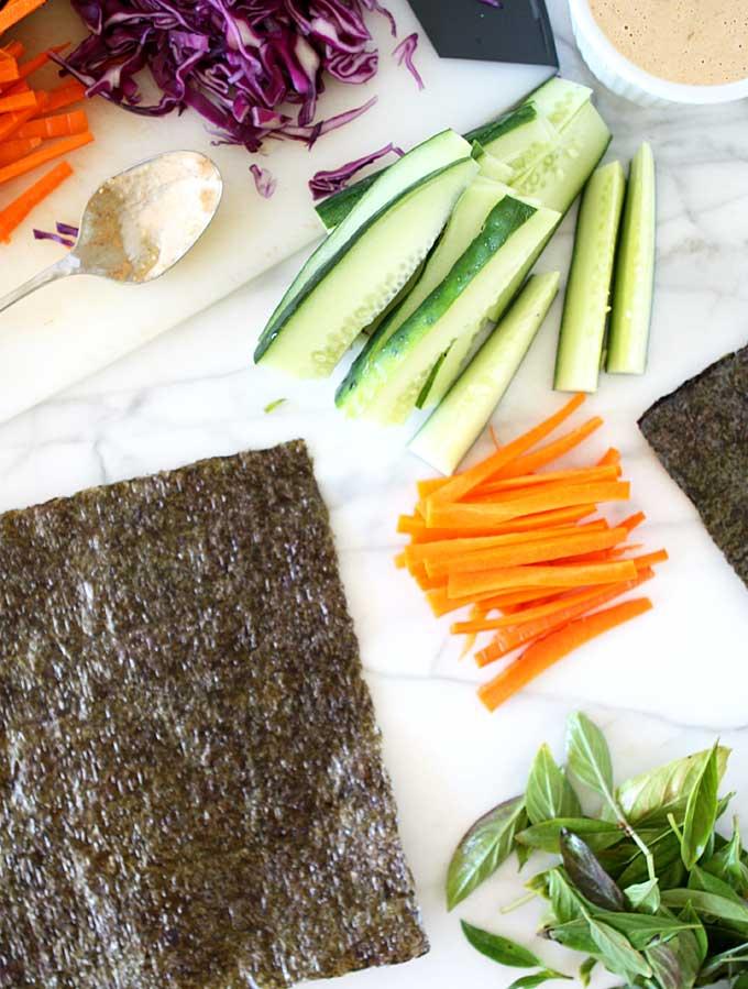 Nori Salad Wraps | thekitchenpaper.com