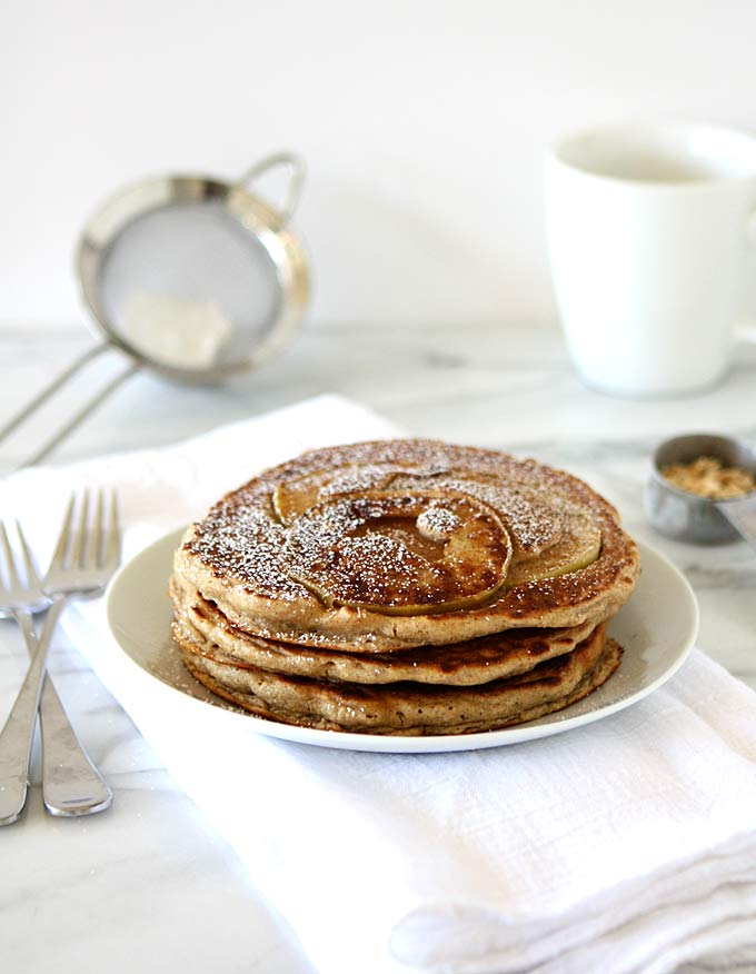 Whole Grain Apple Oatmeal Pancakes Recipes — Dishmaps