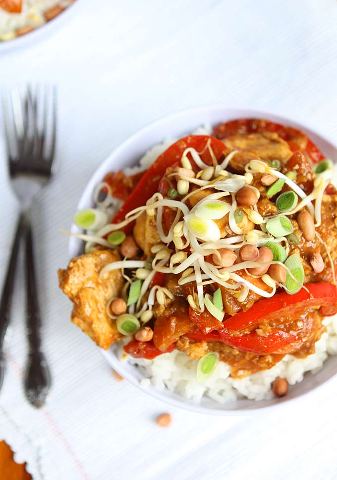 Ginger Peanut Hoisin Tofu | thekitchenpaper.com