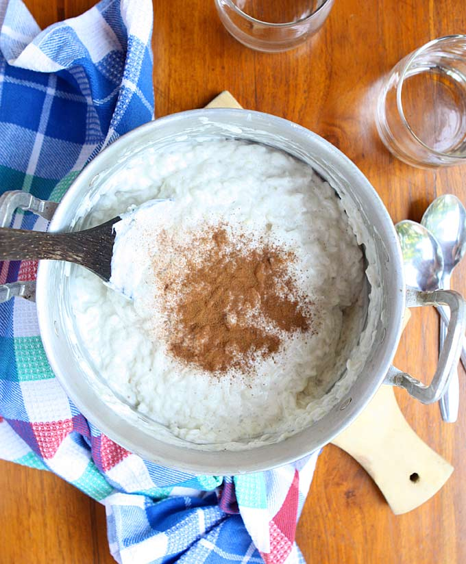 Vegan Ginger Coconut Rice Pudding | thekitchenpaper.com