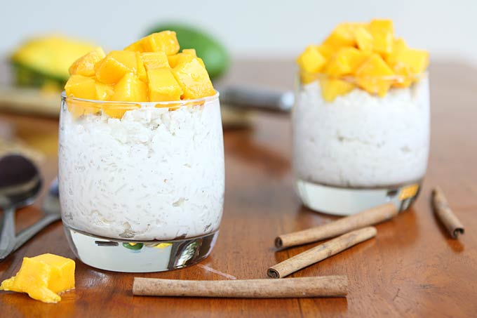 Vegan Ginger Coconut Rice Pudding | thekitchenpaper.com