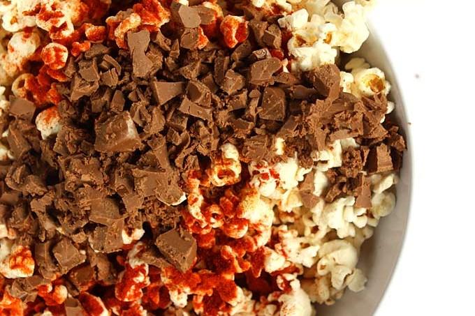 Milk Chocolate Paprika Popcorn