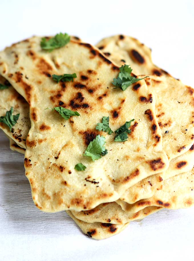 quick naan without yeast recipe the kitchen paper