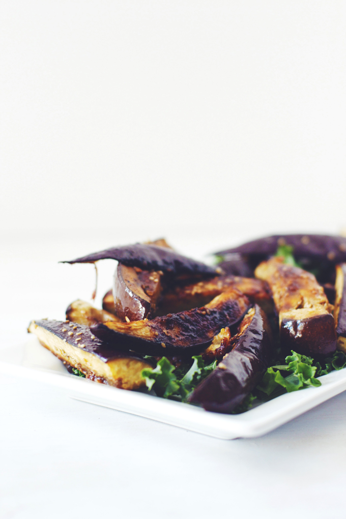 Sesame & Miso Roasted Eggplant | thekitchenpaper.com