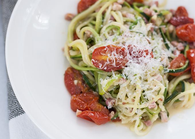 Zucchini Noodle Carbonara | thekitchenpaper.com