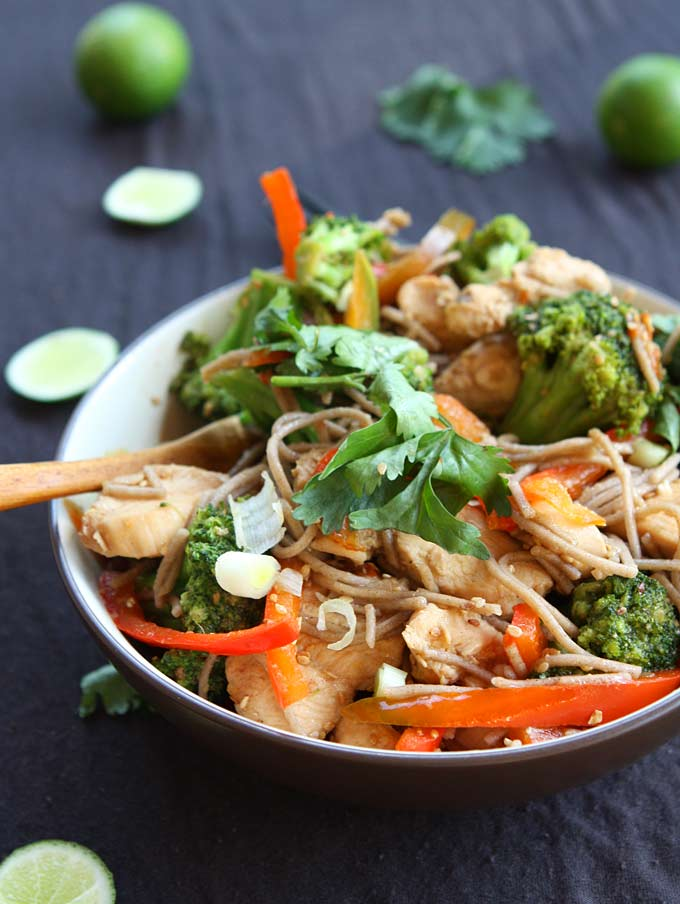 Sesame Chicken Soba Noodle Stir Fry Recipe