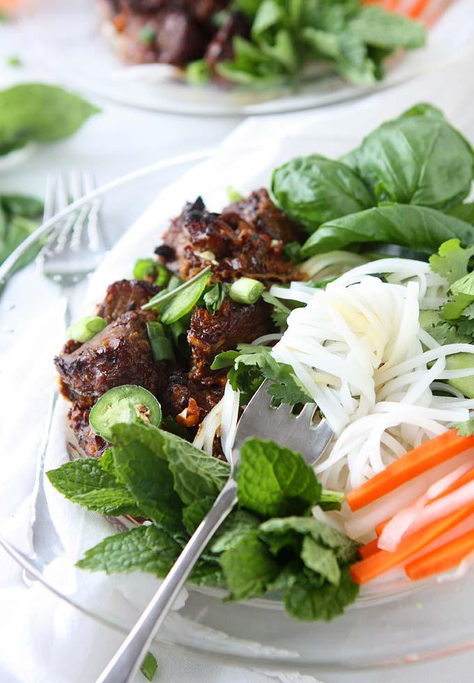 Vietnamese Sticky Pork Noodles (Bún Thịt Nướng)