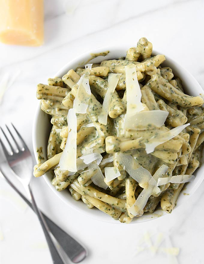 Creamy Pesto Pasta Recipe — Dishmaps