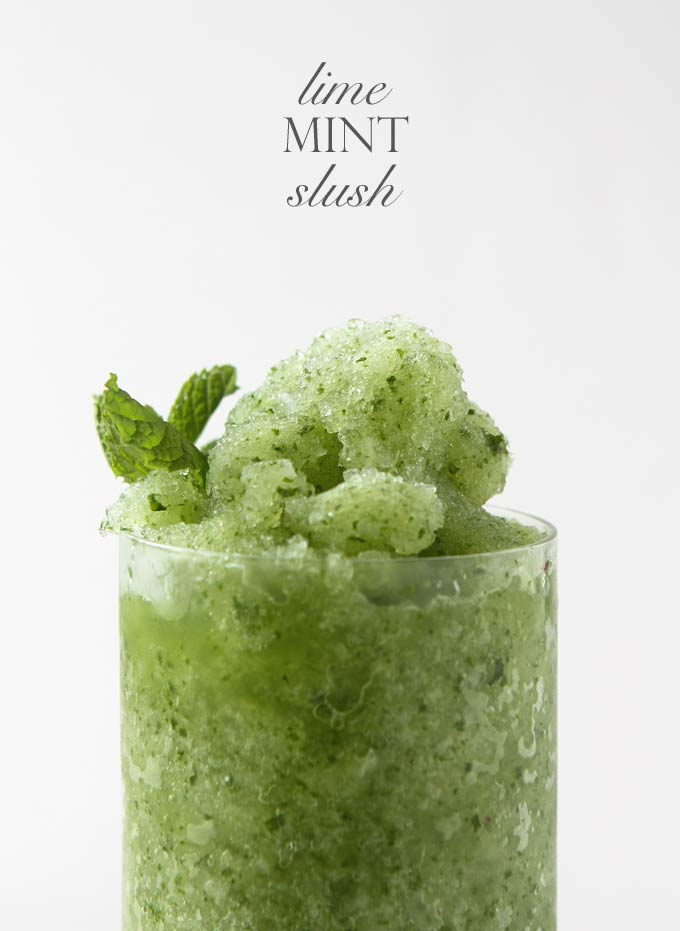 Lime Mint Slush | thekitchenpaper.com