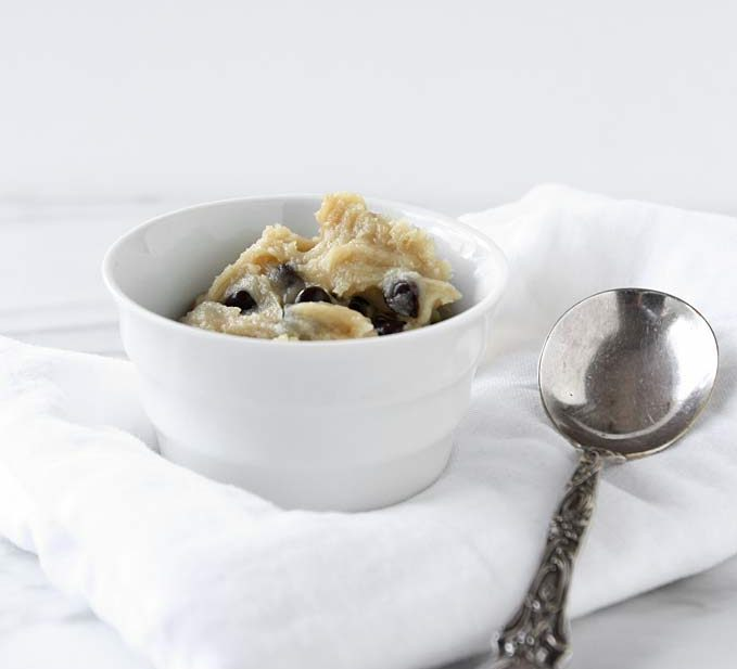 Single Serving Chocolate Chip Cookie Dough | thekitchenpaper.com