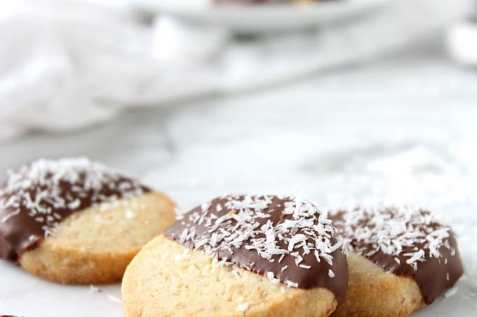 Toasted Coconut Candied Lemon Shortbread