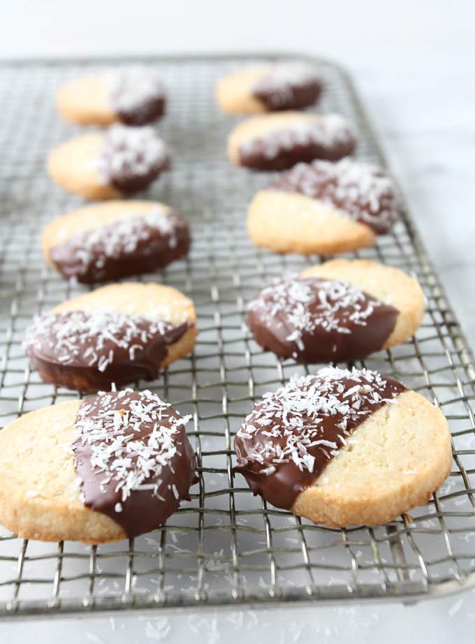 Toasted Coconut Candied Lemon Shortbread   thekitchenpaper.com