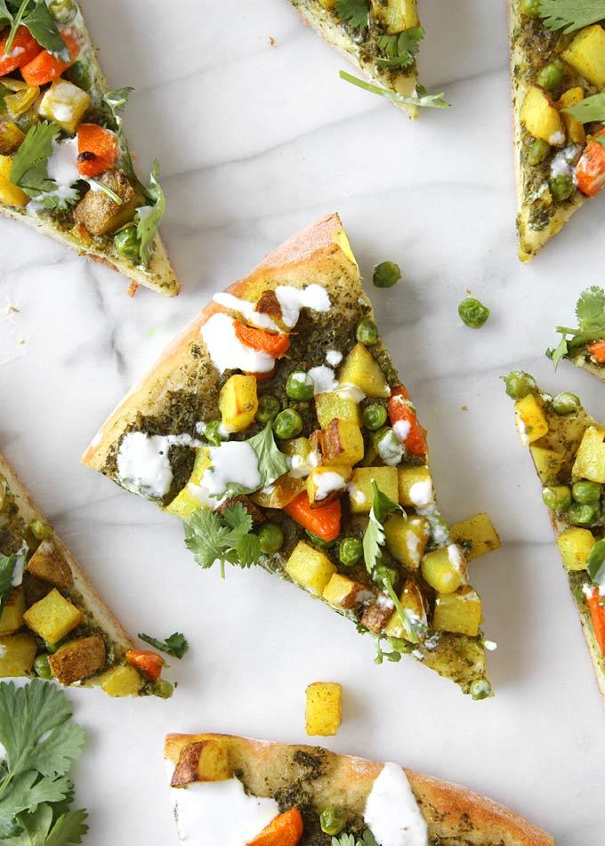 Vegetarian Samosa Pizza Recipe – The Kitchen Paper