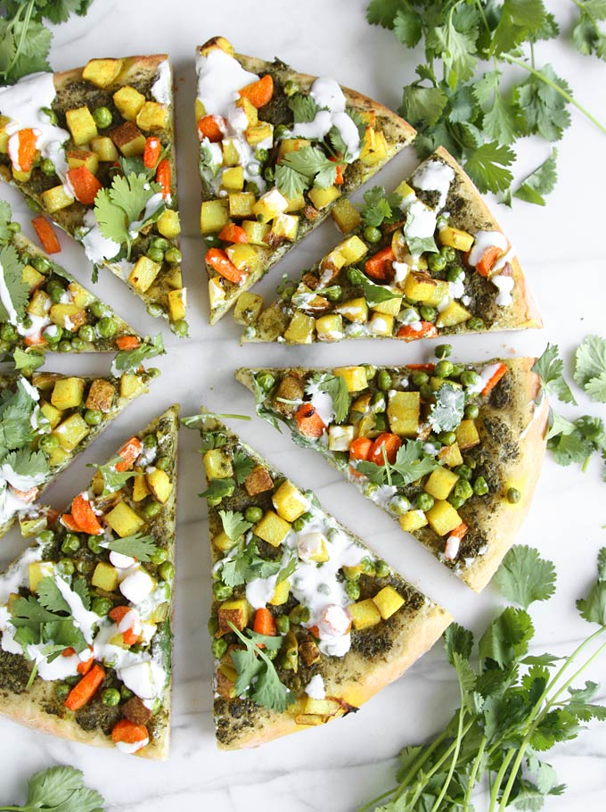 Vegetarian Samosa Pizza
