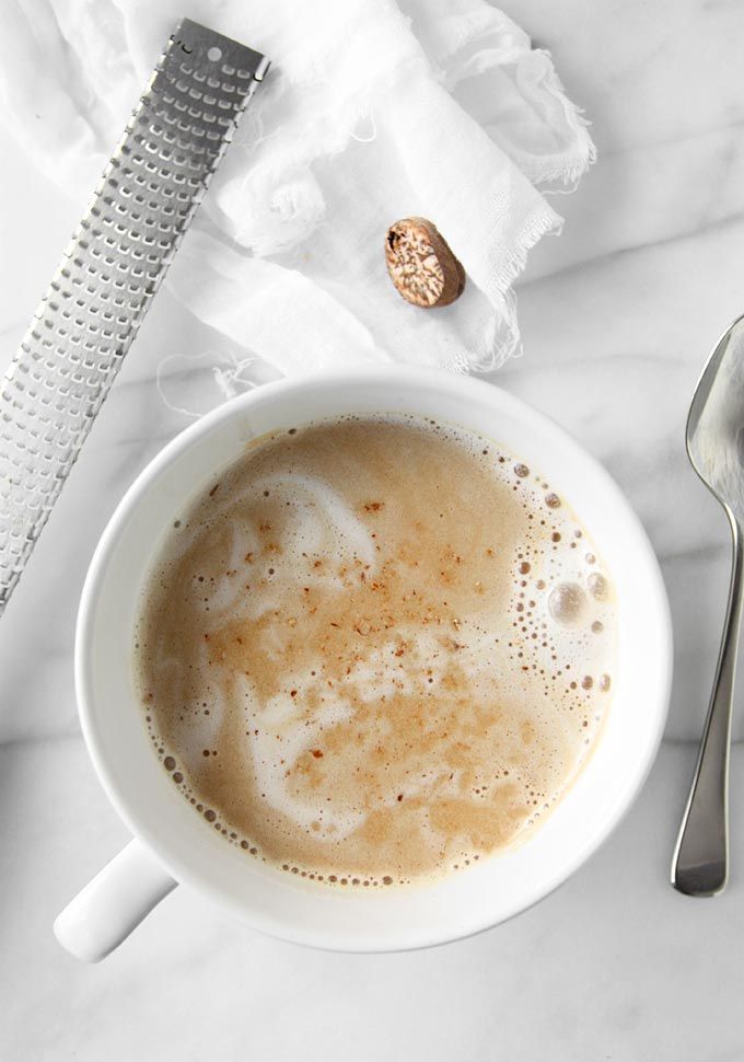 Almond Milk Dirty Chai | thekitchenpaper.com