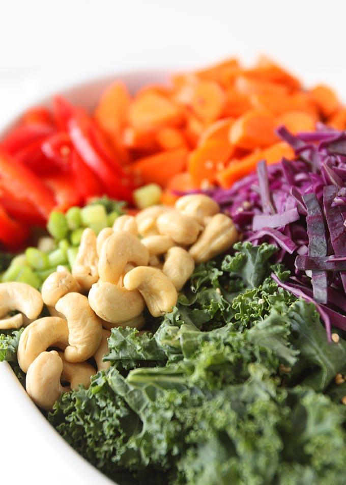 Asian Kale Edamame Salad