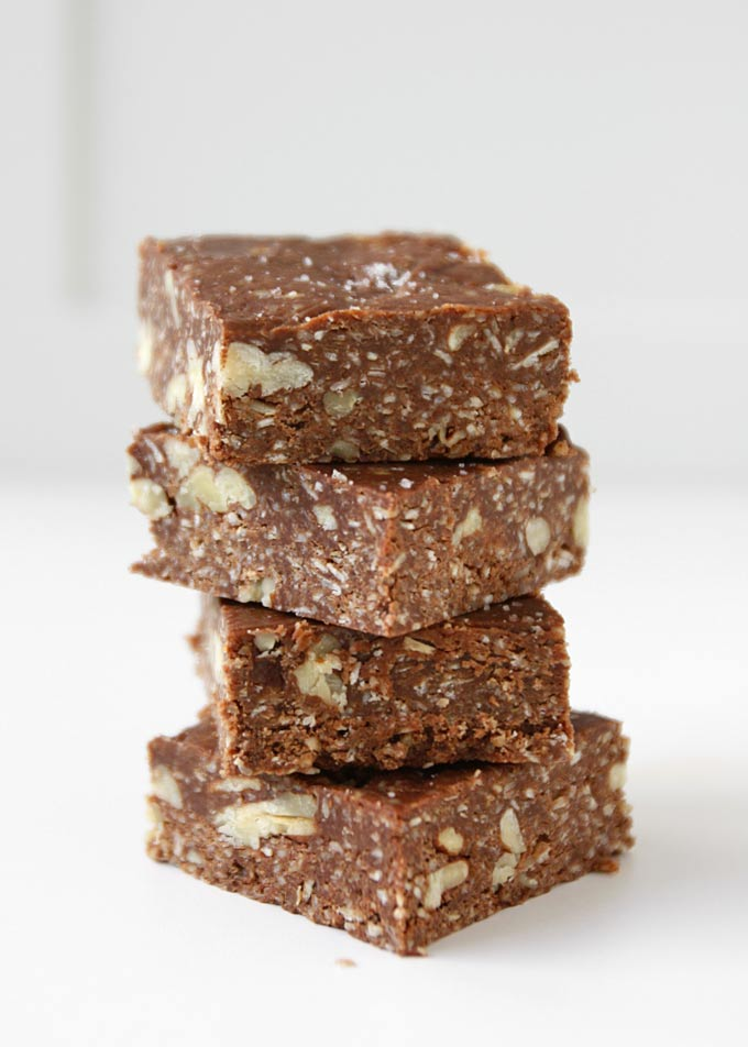 Salted Chocolate Oat Fudge