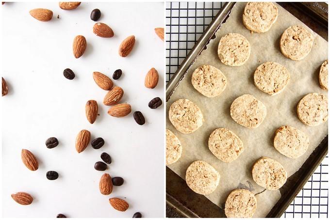 Chocolate Almond Espresso Shortbread Cookies   thekitchenpaper.com