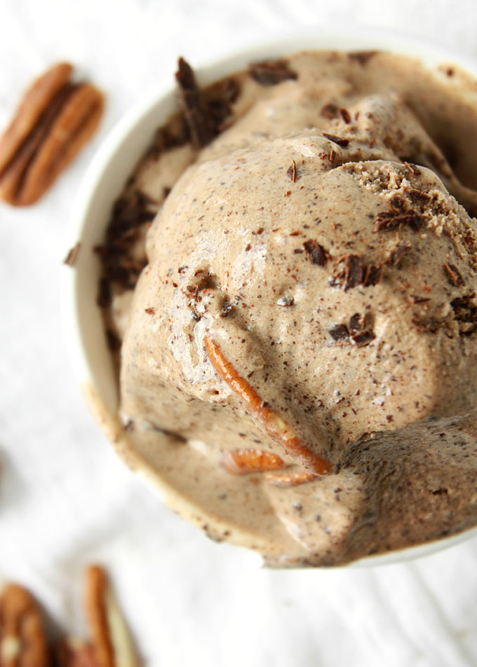 Chipotle Adobo Chocolate Pecan Ice Cream | thekitchenpaper.com
