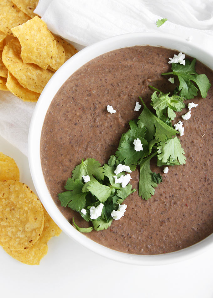 Hot Black Bean Goat Cheese Dip | thekitchenpaper.com
