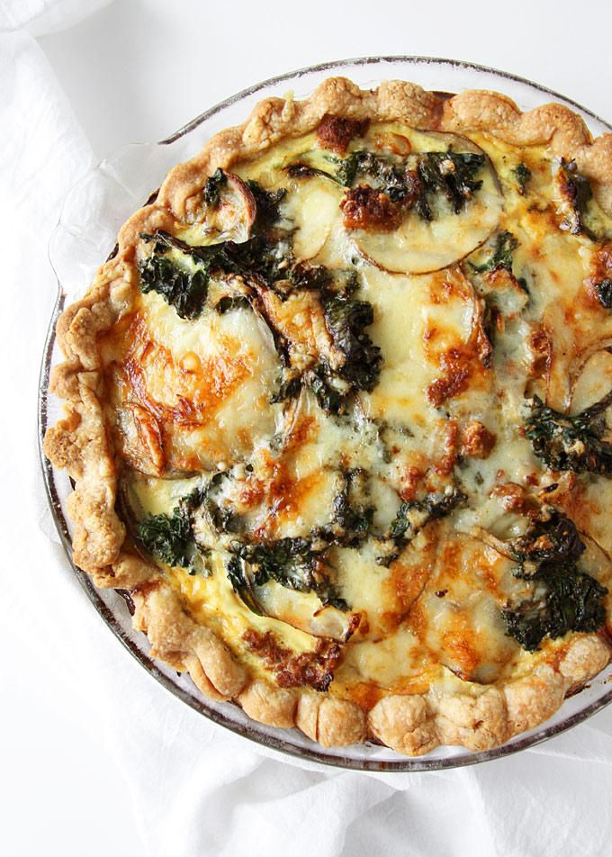 Kale Chorizo Potato Quiche | thekitchenpaper.com