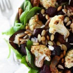 Roasted Beet, Charred Cauliflower, Seeded Salad | thekitchenpaper.com
